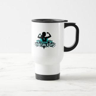 Team Fight Like a Girl -  Gynecologic Cancer Coffee Mug