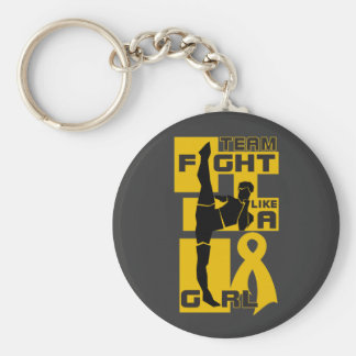 Team Fight Like A Girl Kick Appendix Cancer Key Chains
