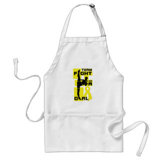 Team Fight Like A Girl Kick Bladder Cancer Adult Apron