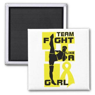 Team Fight Like A Girl Kick Bladder Cancer Fridge Magnet