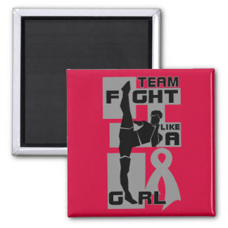 Team Fight Like A Girl Kick Brain Cancer Fridge Magnets