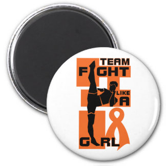 Team Fight Like A Girl Kick Leukemia Refrigerator Magnet