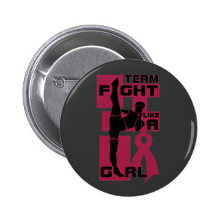 Team Fight Like A Girl Kick Multiple Myeloma Pinback Button
