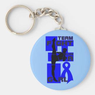Team Fight Like A Girl Kick Rectal Cancer Key Chains
