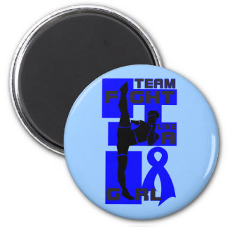 Team Fight Like A Girl Kick Rectal Cancer Magnet