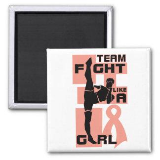 Team Fight Like A Girl Kick Uterine Cancer Fridge Magnet