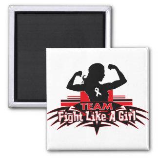 Team Fight Like a Girl - Lung Cancer Fridge Magnet