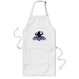 Team Fight Like a Girl - Stomach Cancer Long Apron