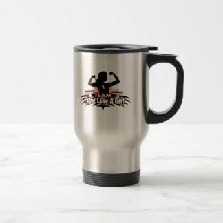 Team Fight Like a Girl - Uterine Cancer Coffee Mug