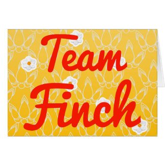 Team Finch Card