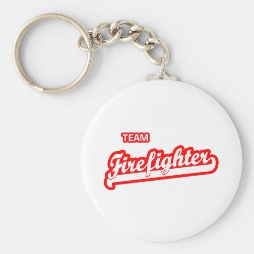 Team Firefighter Keychains