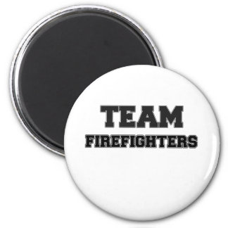 Team Firefighters 2 Inch Round Magnet