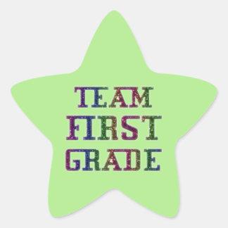 Team First Grade, Green Novelty School Stickers