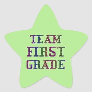 USA Themed Team First Grade, Green Novelty School Stickers