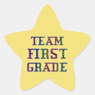 Team First Grade, Yellow Novelty School Stickers
