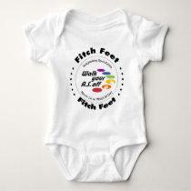 Team Fitch Feet Baby Bodysuit