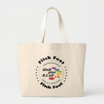 Team Fitch Feet Large Tote Bag
