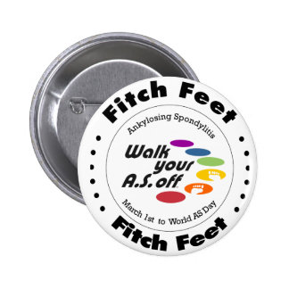 Team Fitch Feet Pinback Button