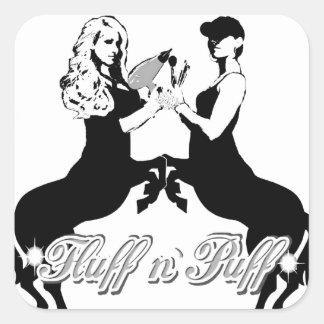Team Fluff n' Puff Square Sticker
