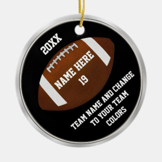 Team Football Ornaments Your TEXT and COLORS