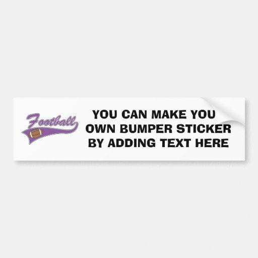 Team Football Purple T-shirts and Gifts Bumper Stickers