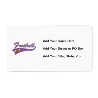 Team Football Purple T-shirts and Gifts Shipping Label