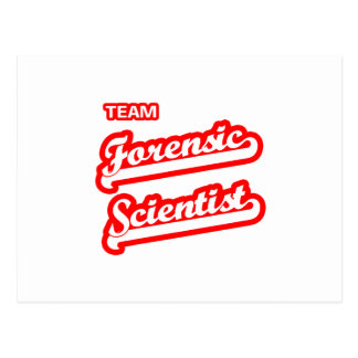 Team Forensic Scientist Postcard