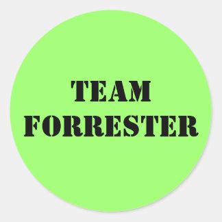 TEAM FORRESTER CLASSIC ROUND STICKER
