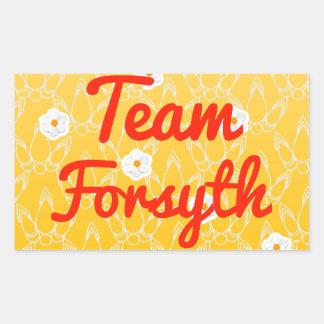 Team Forsyth Rectangular Sticker