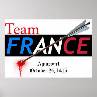 Team France Agincourt Poster