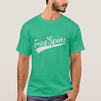 Team Free Spins - Baseball Script (White) T-Shirt