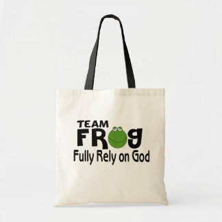 Team Frog (Fully Rely On God) Budget Tote Bag