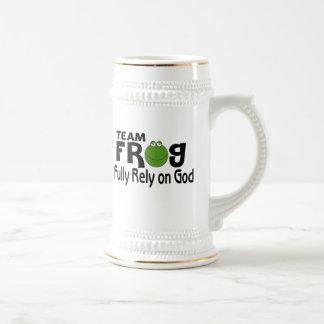 Team Frog Fully Rely On God Coffee Mug