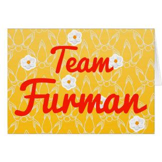 Team Furman Card