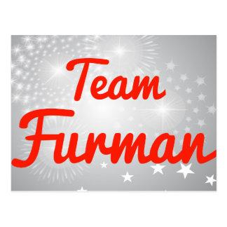 Team Furman Post Card