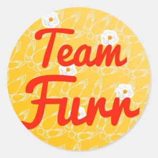 Team Furr Classic Round Sticker