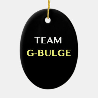 TEAM G-BULGE Double-Sided OVAL CERAMIC CHRISTMAS ORNAMENT