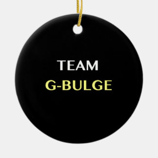 TEAM G-BULGE Double-Sided CERAMIC ROUND CHRISTMAS ORNAMENT