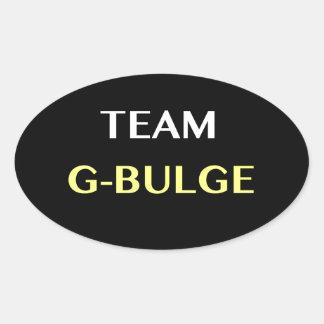 TEAM G-BULGE OVAL STICKER