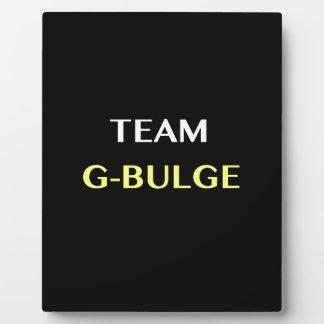 TEAM G-BULGE PLAQUE