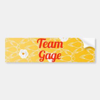 Team Gage Bumper Stickers