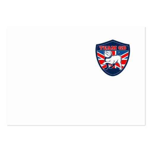 Team GB English bulldog British sports team shield Business Card Templates