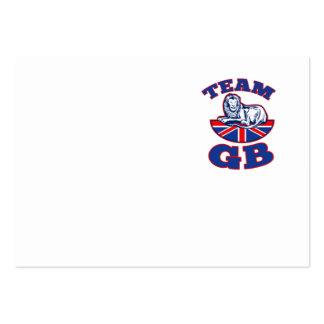 Team GB Lion sitting GB British union jack flag Large Business Cards (Pack Of 100)