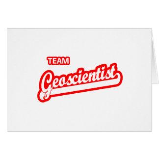 Team Geoscientist Greeting Card