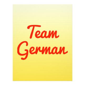Team German Flyer Design