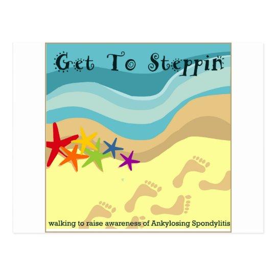 Team Get To Steppin Postcard