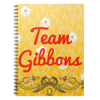 Team Gibbons Spiral Notebook