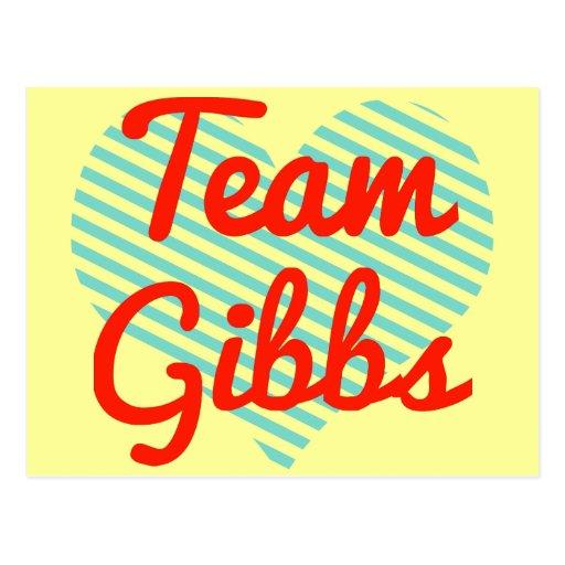 Team Gibbs Post Card