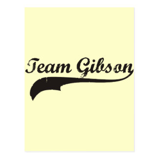 team gibson postcard