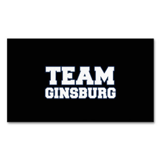 TEAM GINSBURG MAGNETIC BUSINESS CARDS (Pack OF 25)